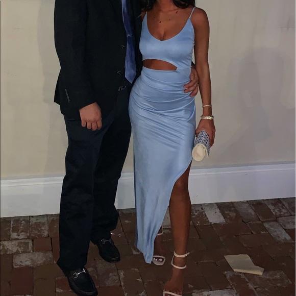 Dresses & Skirts - Blue cutout maxi dress